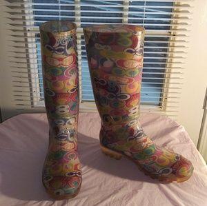 Coach Poppy Rain Boots